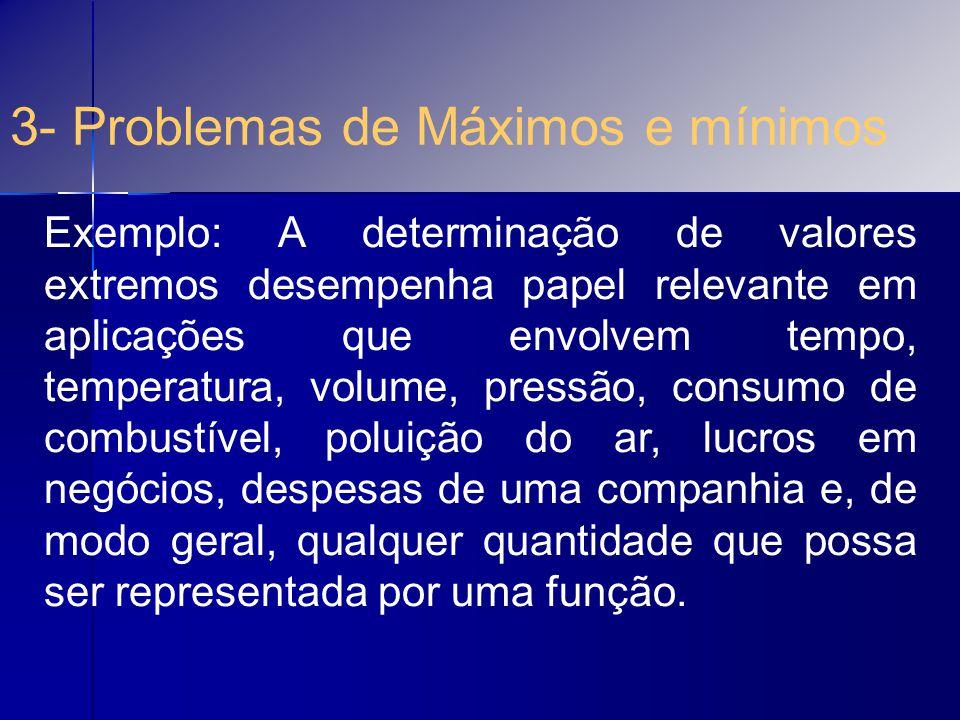 3- Problemas de Máximos e mínimos