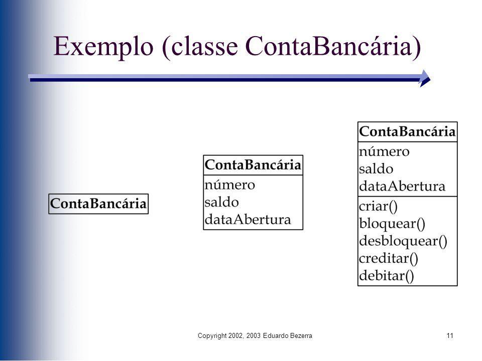 Exemplo (classe ContaBancária)