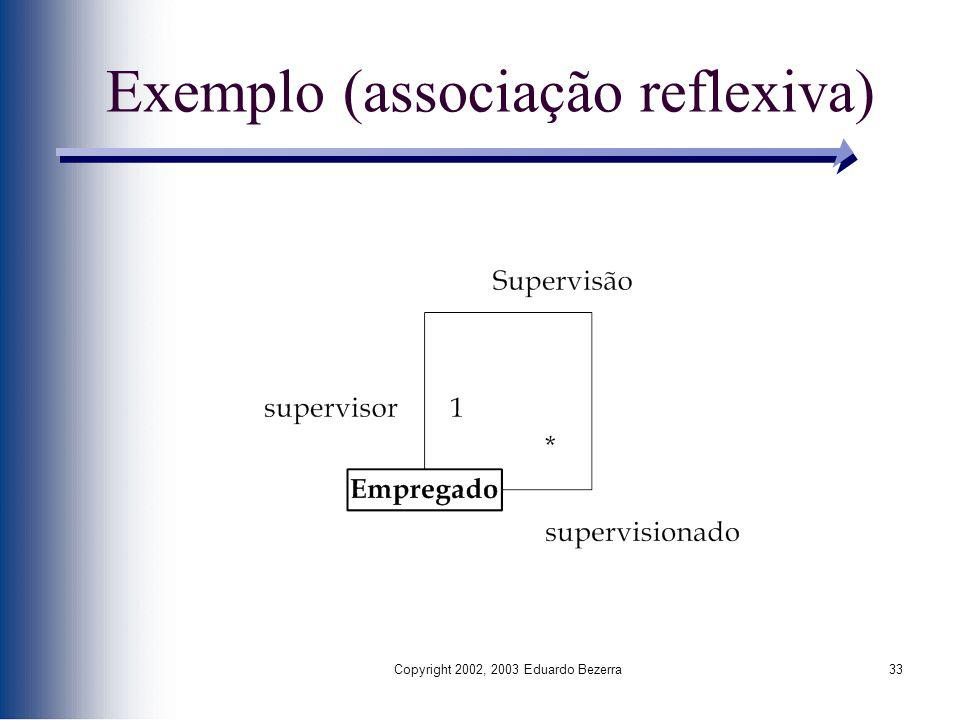 Exemplo (associação reflexiva)