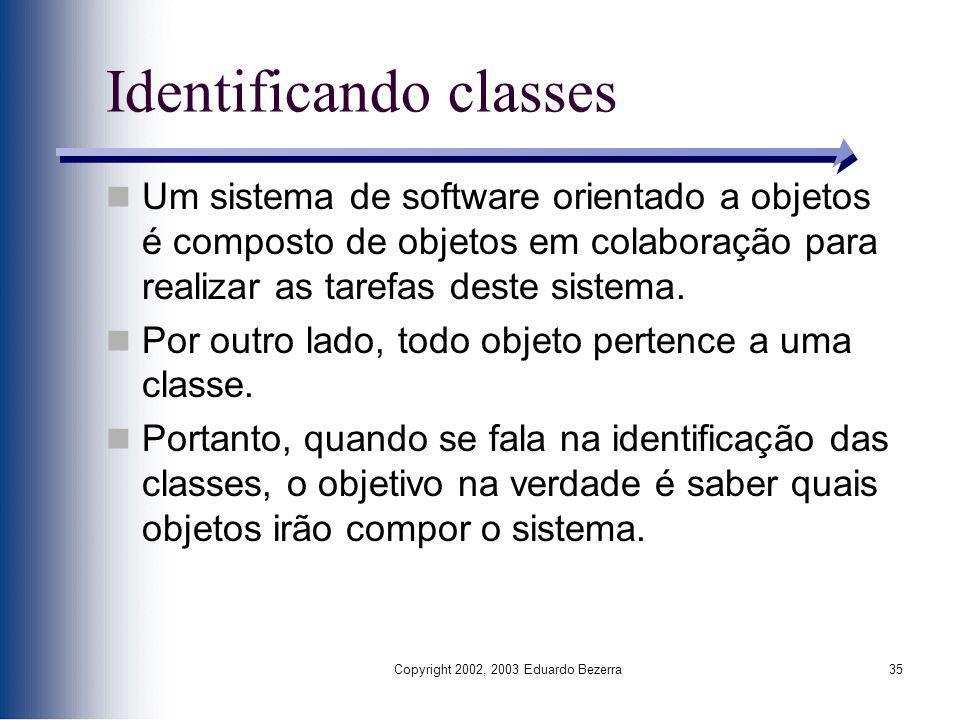 Identificando classes
