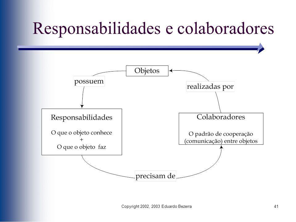 Responsabilidades e colaboradores