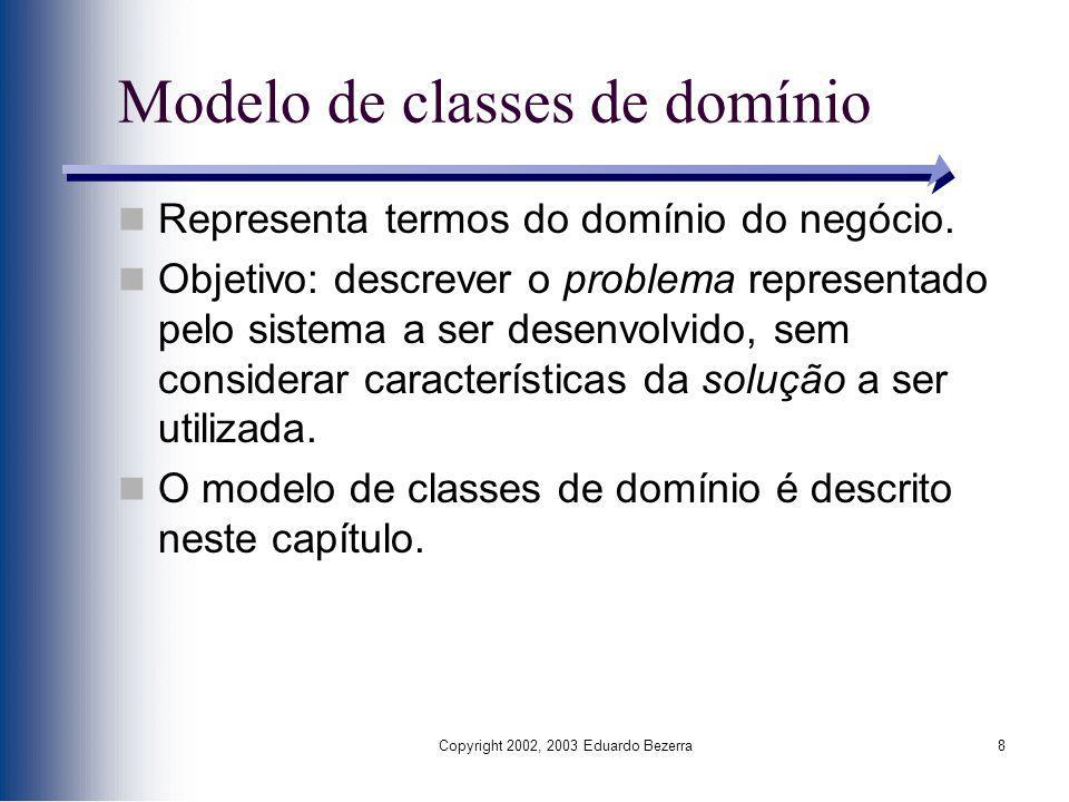 Modelo de classes de domínio