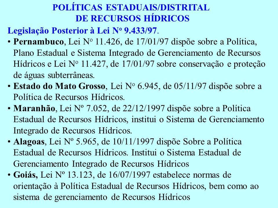 POLÍTICAS ESTADUAIS/DISTRITAL
