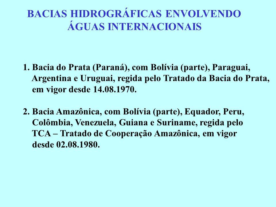 BACIAS HIDROGRÁFICAS ENVOLVENDO