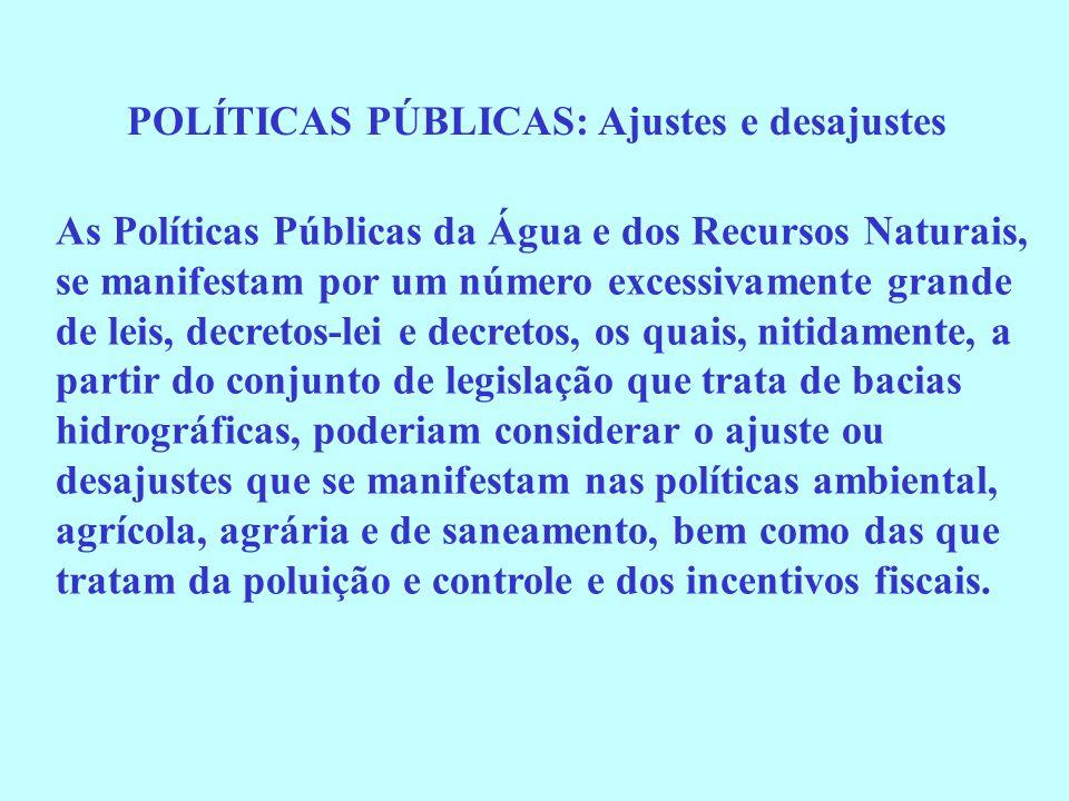 POLÍTICAS PÚBLICAS: Ajustes e desajustes