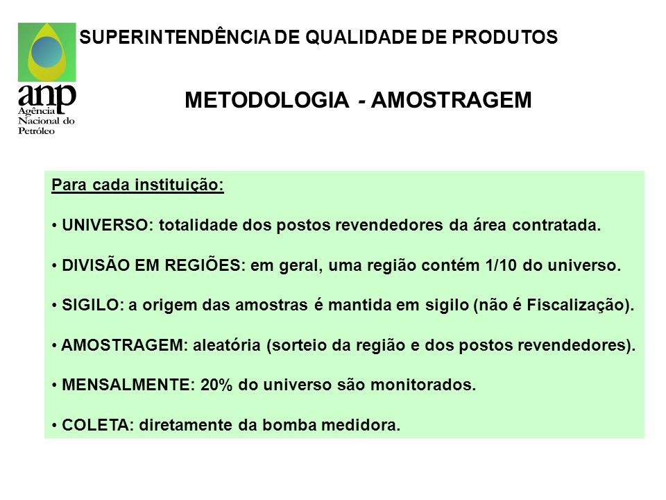 METODOLOGIA - AMOSTRAGEM