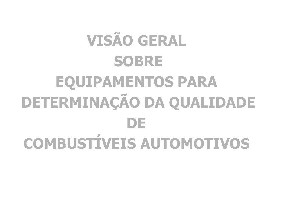 DETERMINAÇÃO DA QUALIDADE COMBUSTÍVEIS AUTOMOTIVOS
