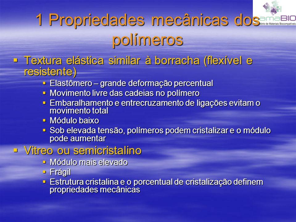 1 Propriedades mecânicas dos polímeros
