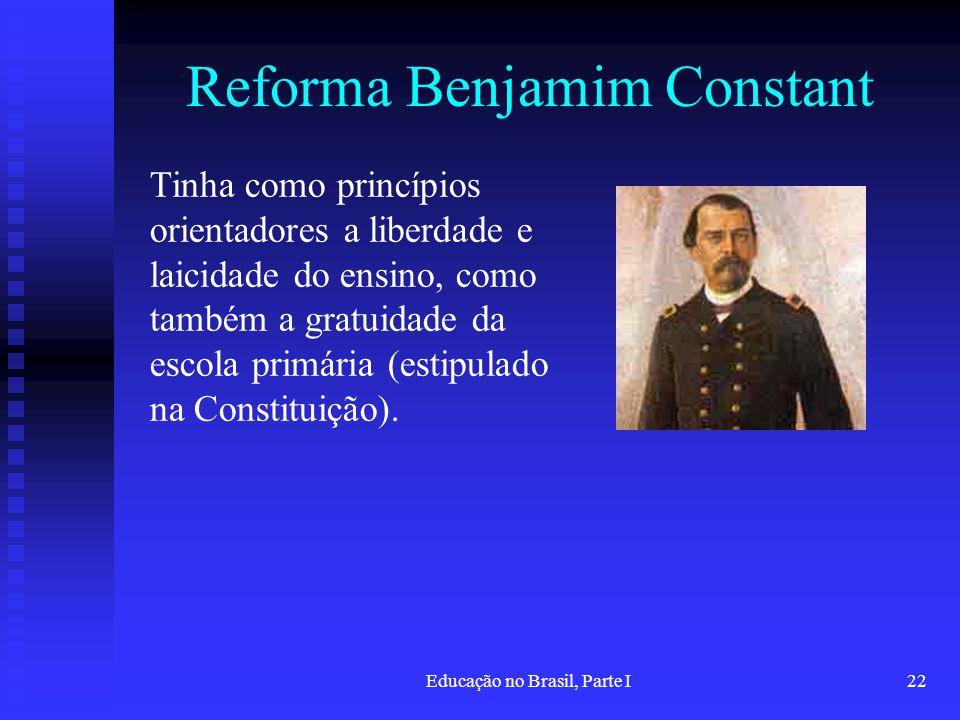 Reforma Benjamim Constant