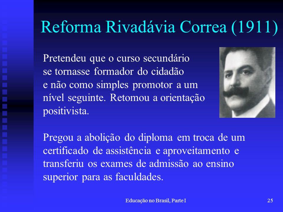 Reforma Rivadávia Correa (1911)