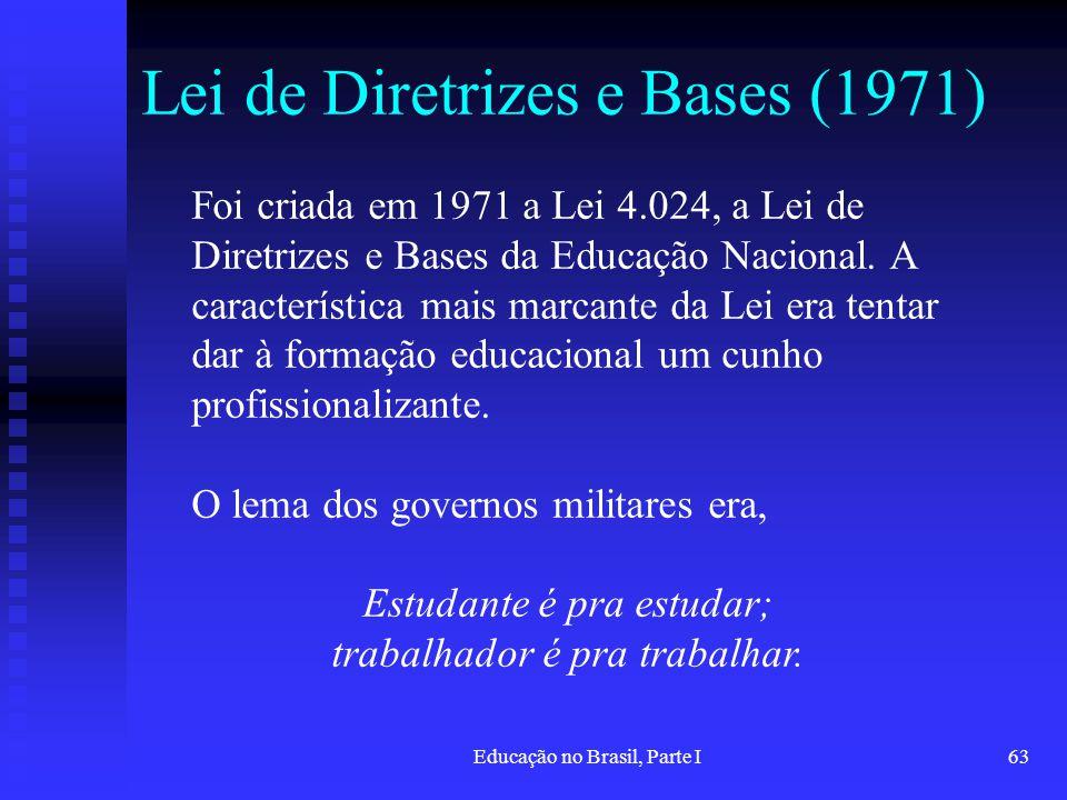 Lei de Diretrizes e Bases (1971)