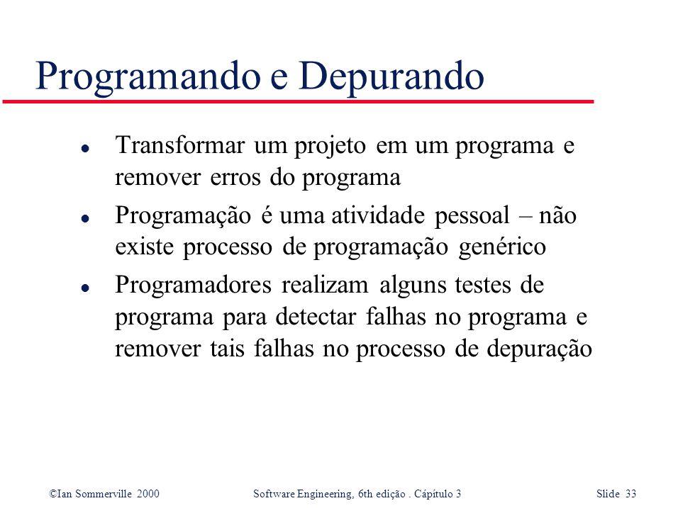 Programando e Depurando