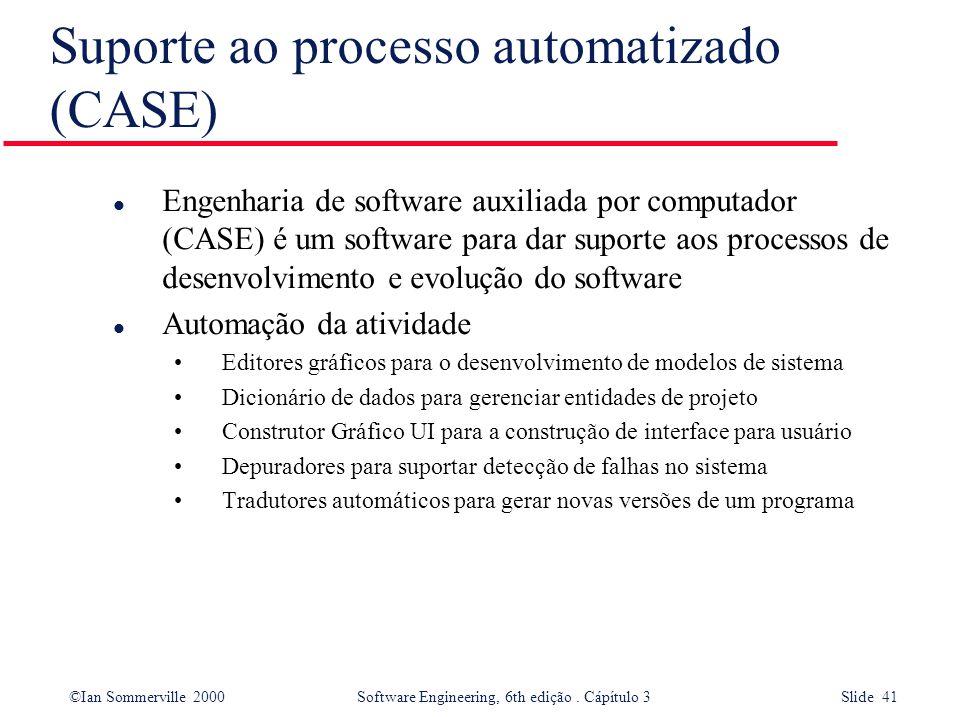 Suporte ao processo automatizado (CASE)