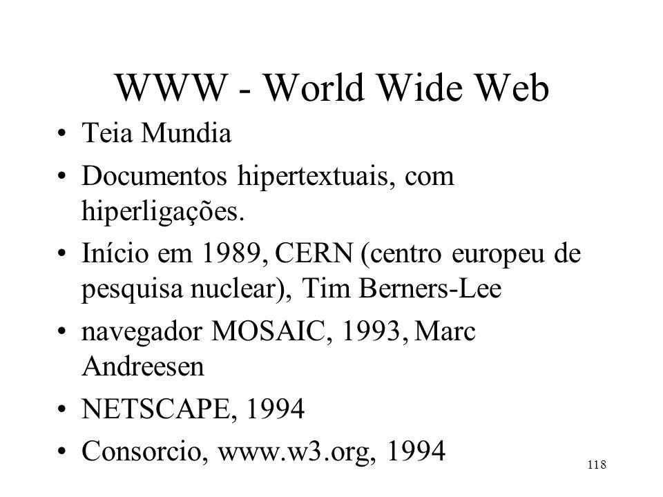 WWW - World Wide Web Teia Mundia