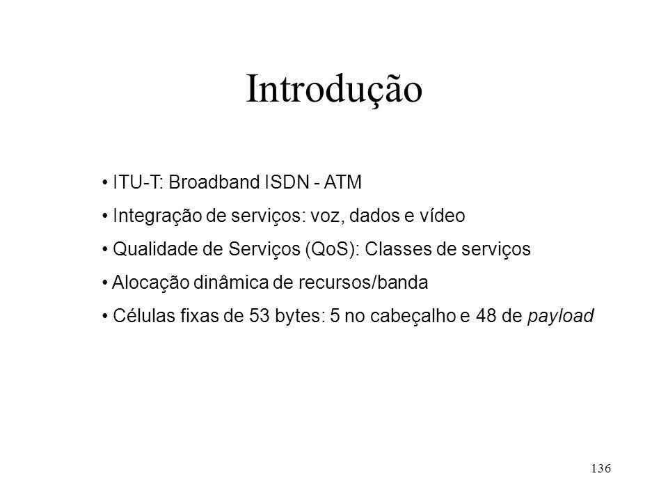 Introdução ITU-T: Broadband ISDN - ATM