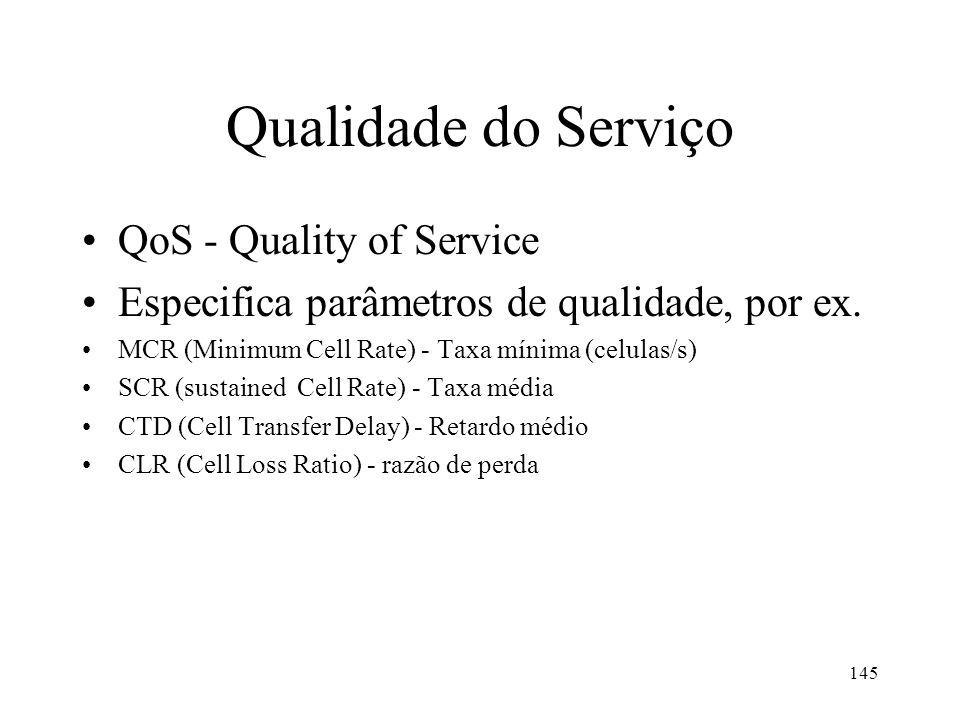 Qualidade do Serviço QoS - Quality of Service