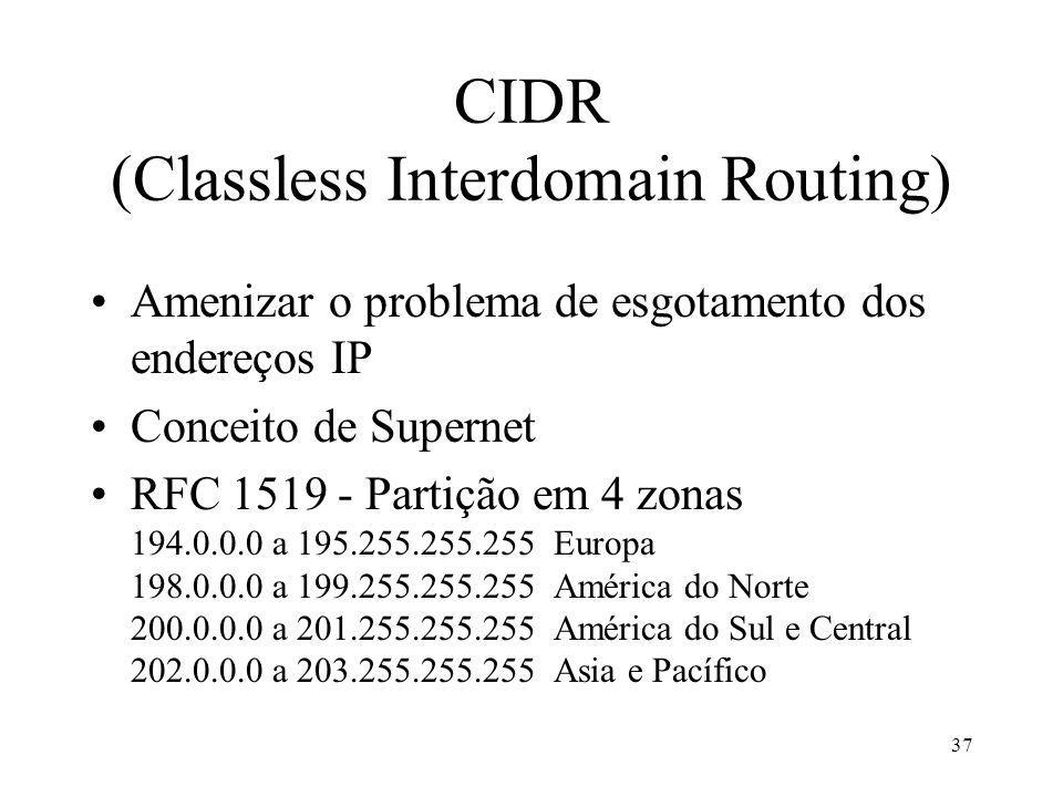 CIDR (Classless Interdomain Routing)