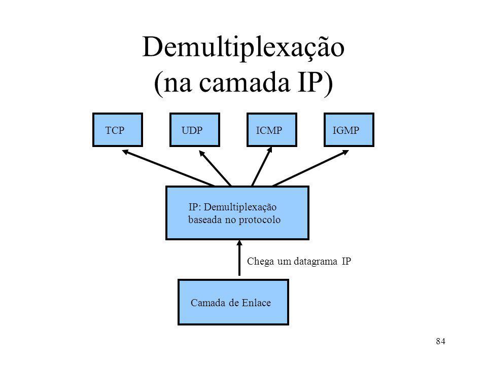 Demultiplexação (na camada IP)