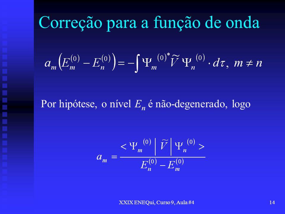 Correção para a função de onda
