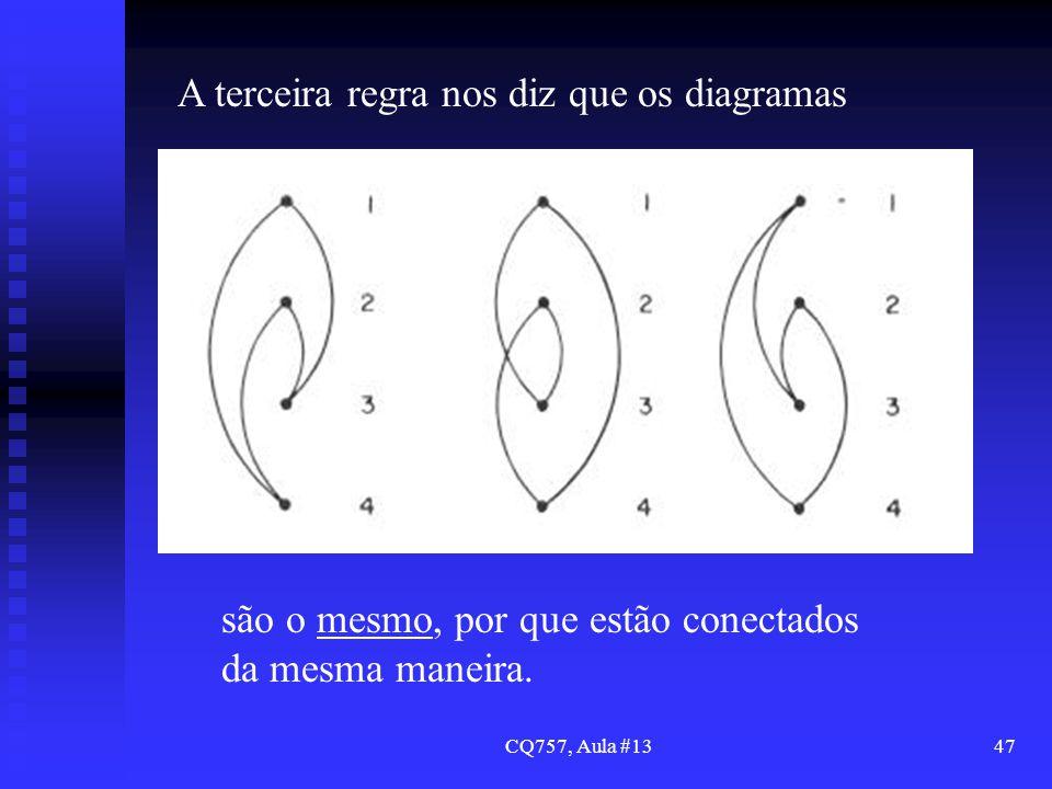 A terceira regra nos diz que os diagramas