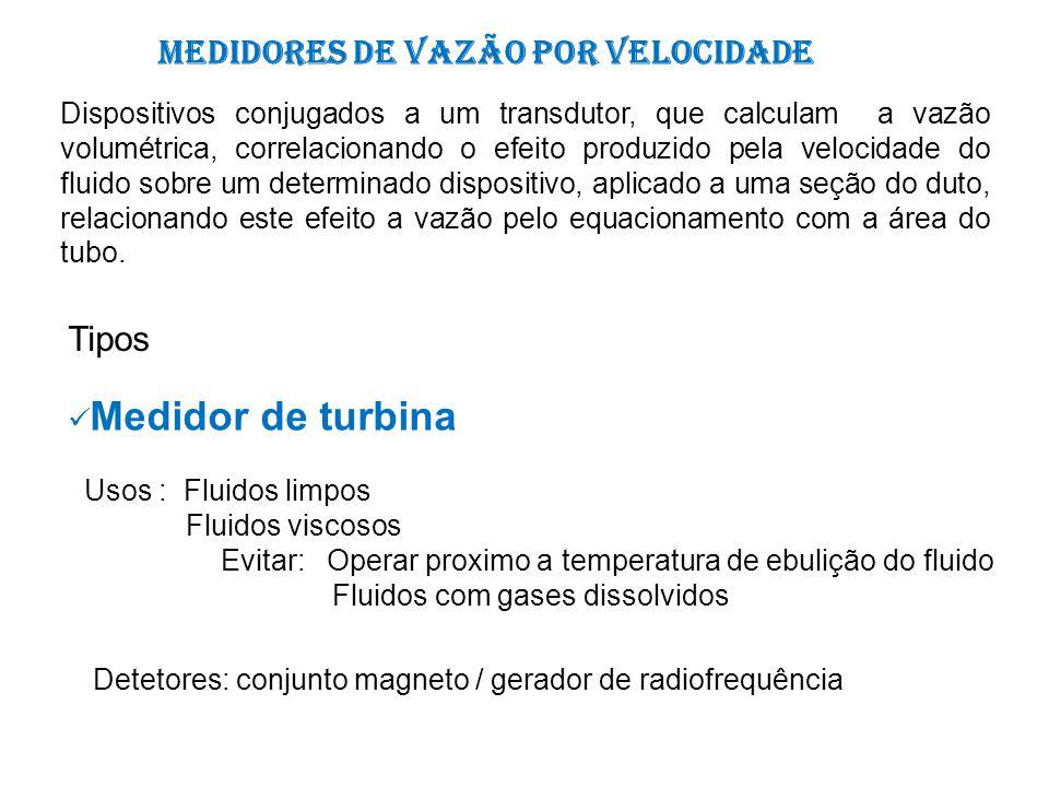 Medidores de vazão por velocidade