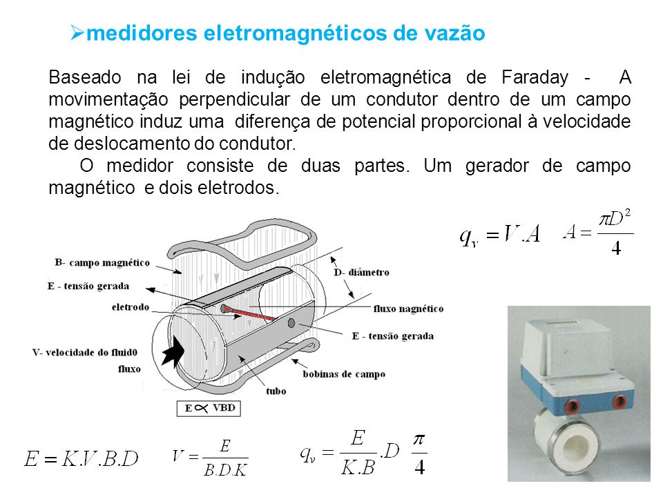 medidores eletromagnéticos de vazão