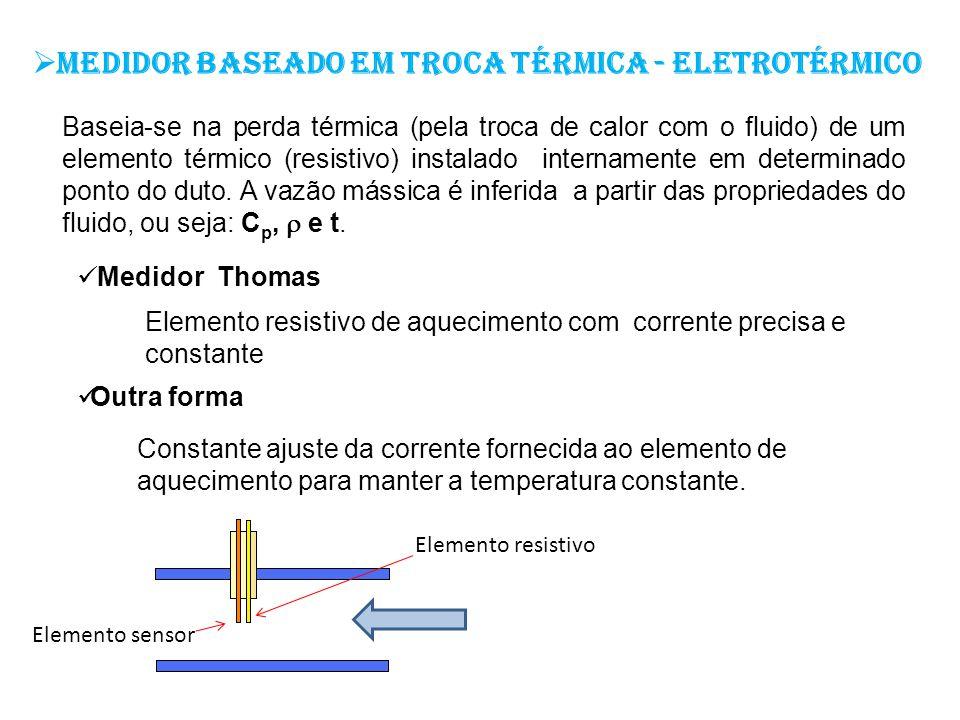 Medidor baseado em troca térmica - eletrotérmico