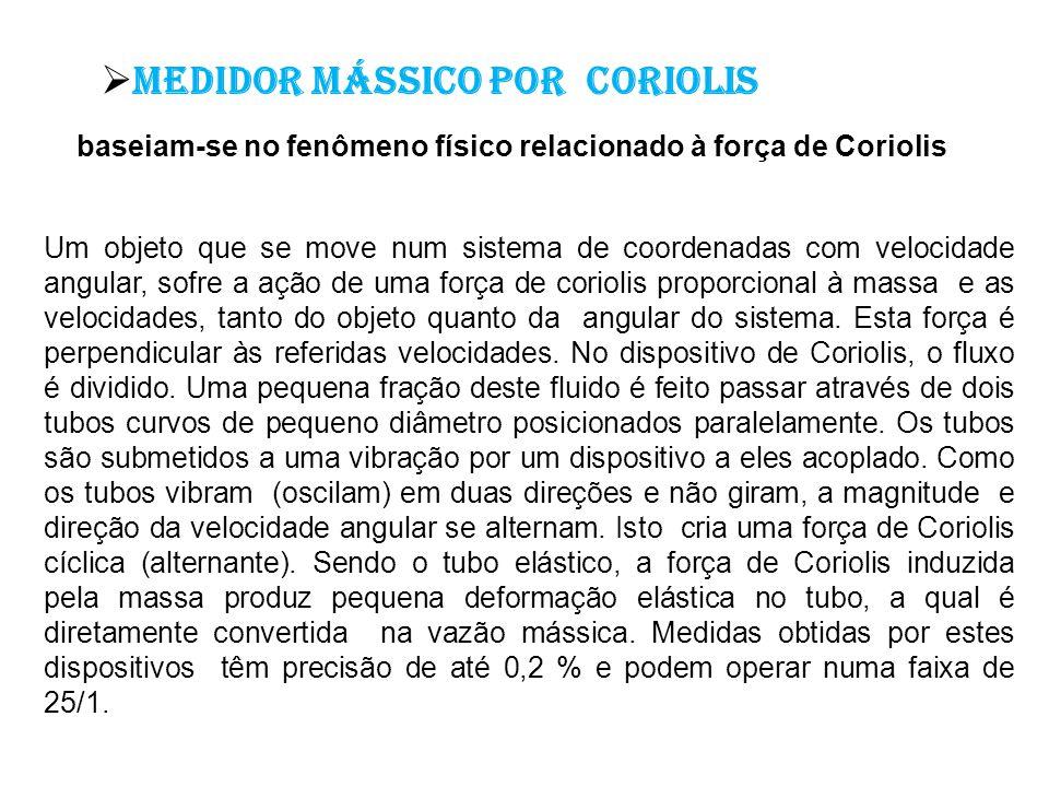 Medidor mássico por Coriolis
