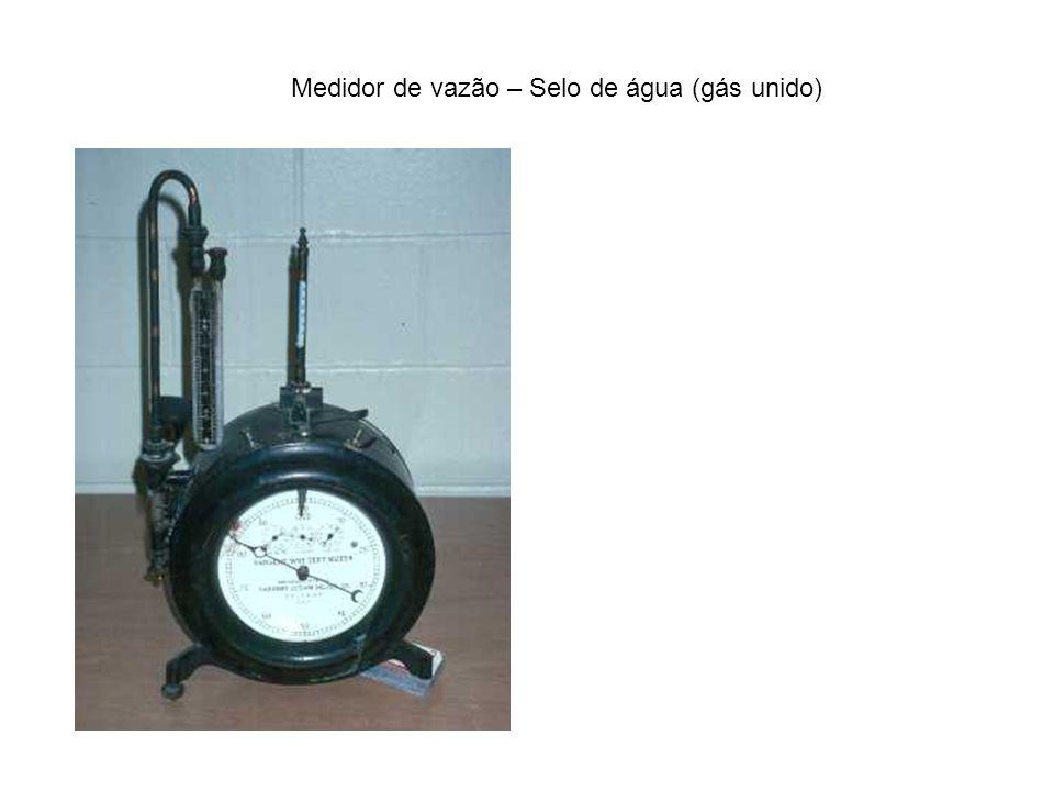 Medidor de vazão – Selo de água (gás unido)