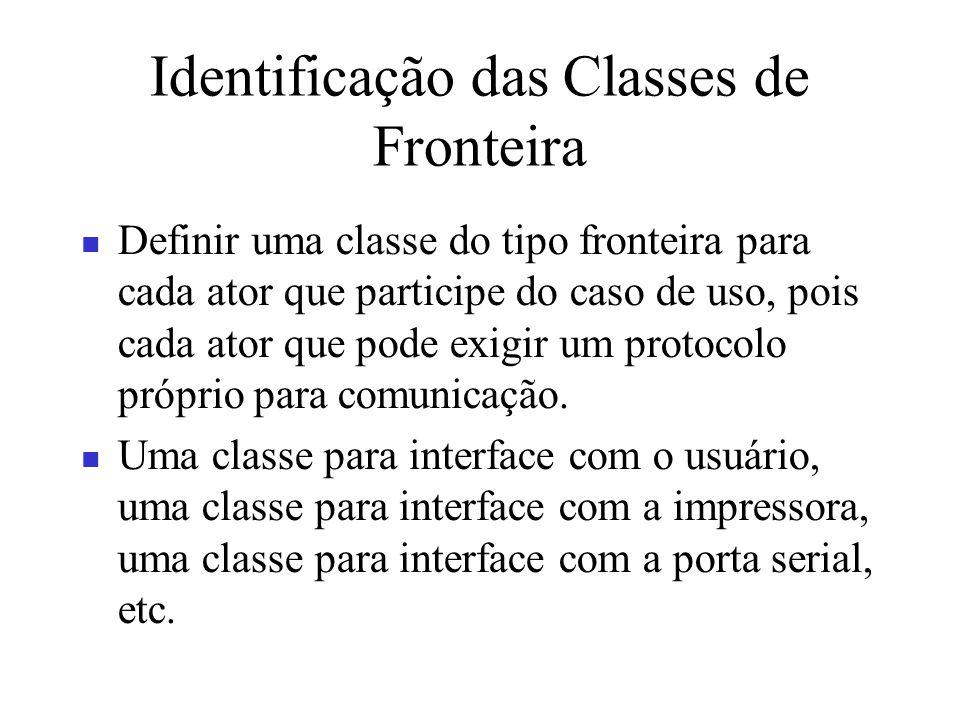 Identificação das Classes de Fronteira
