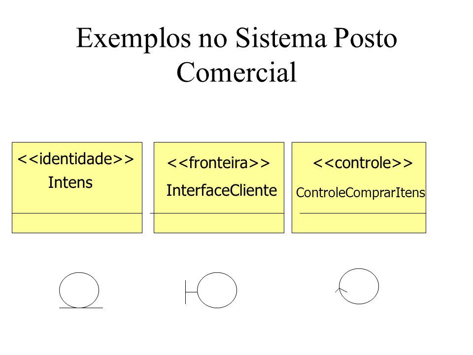 Exemplos no Sistema Posto Comercial
