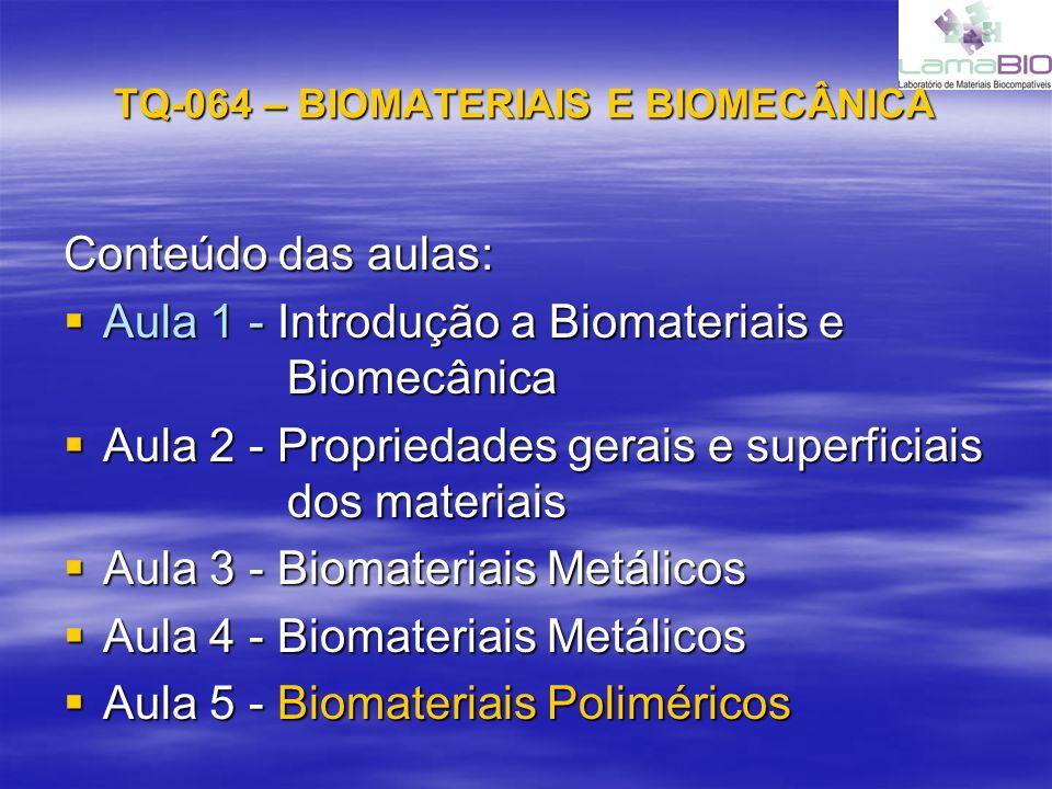TQ-064 – BIOMATERIAIS E BIOMECÂNICA