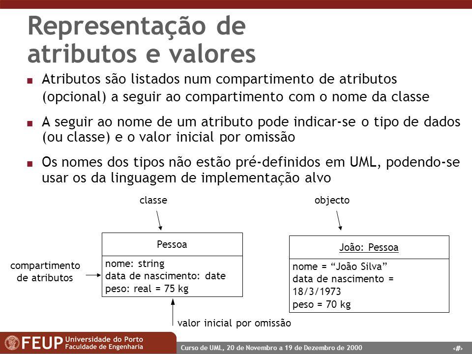Representação de atributos e valores