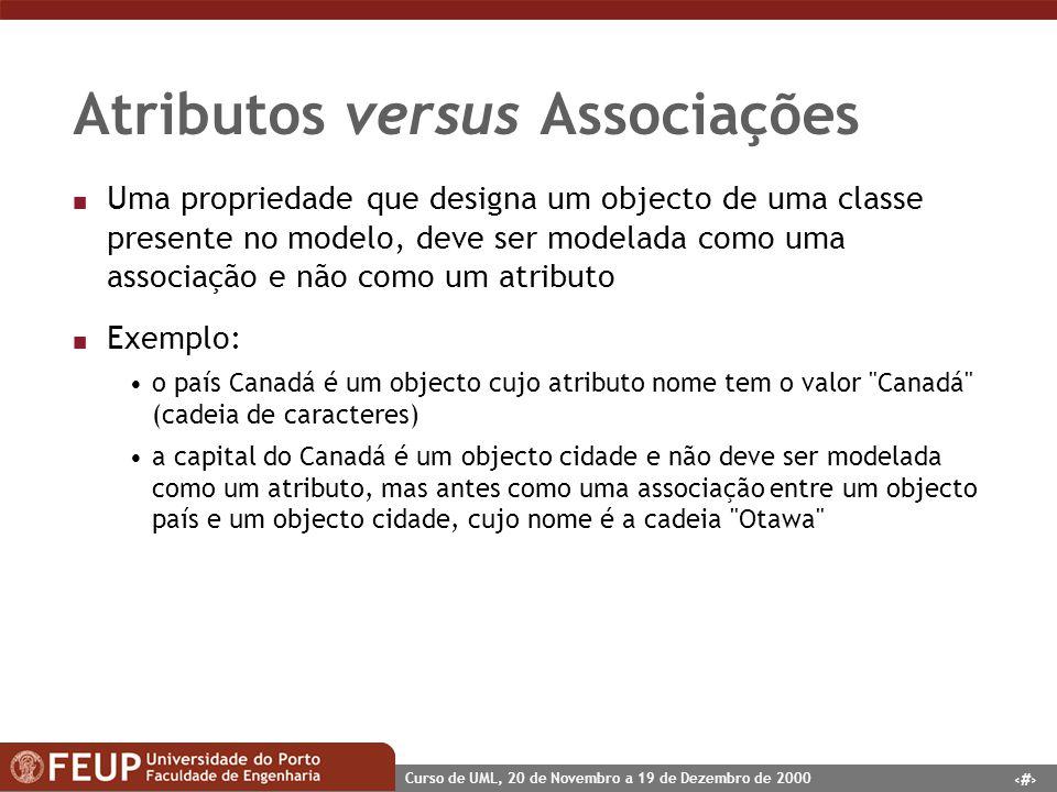Atributos versus Associações