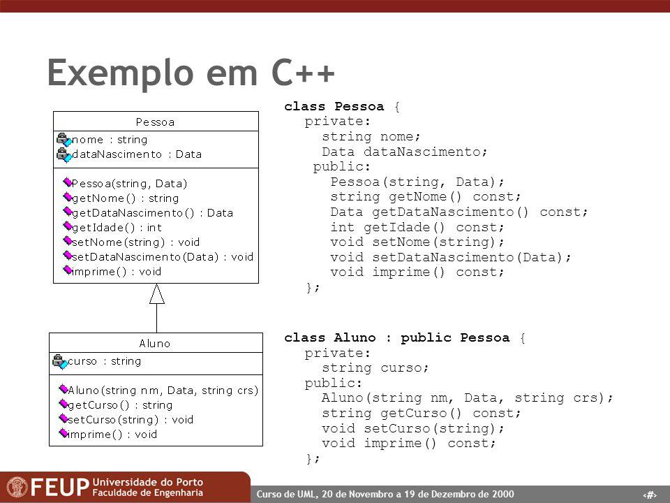 Exemplo em C++