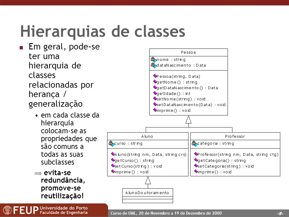 Hierarquias de classes