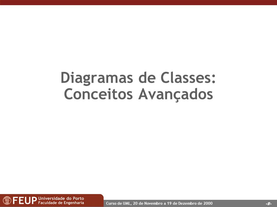 Diagramas de Classes: Conceitos Avançados