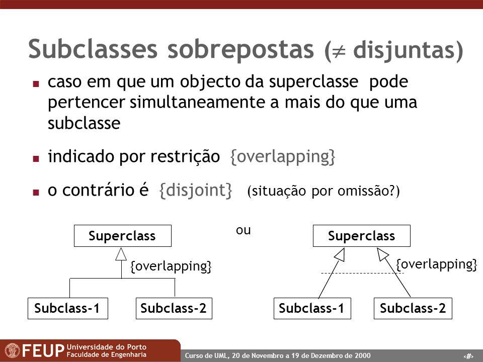 Subclasses sobrepostas ( disjuntas)