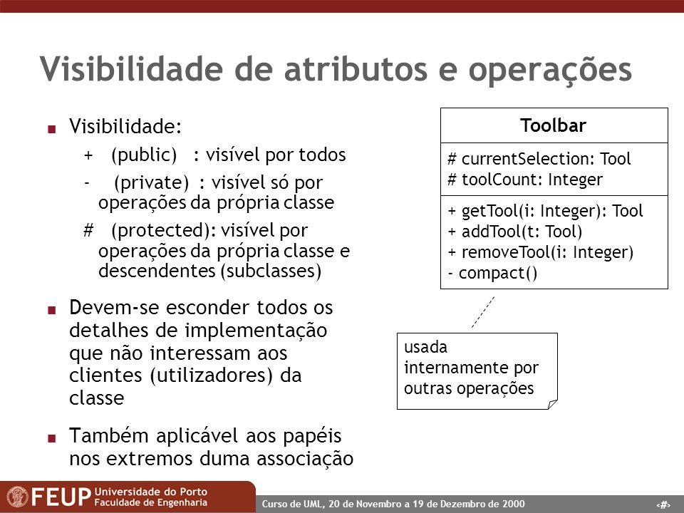 Visibilidade de atributos e operações