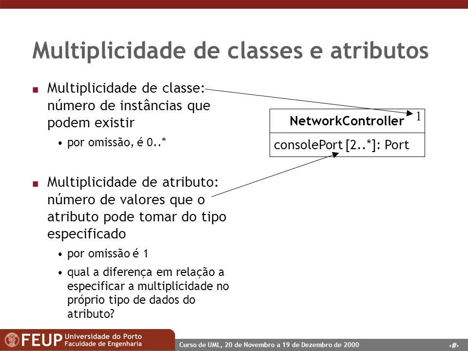Multiplicidade de classes e atributos
