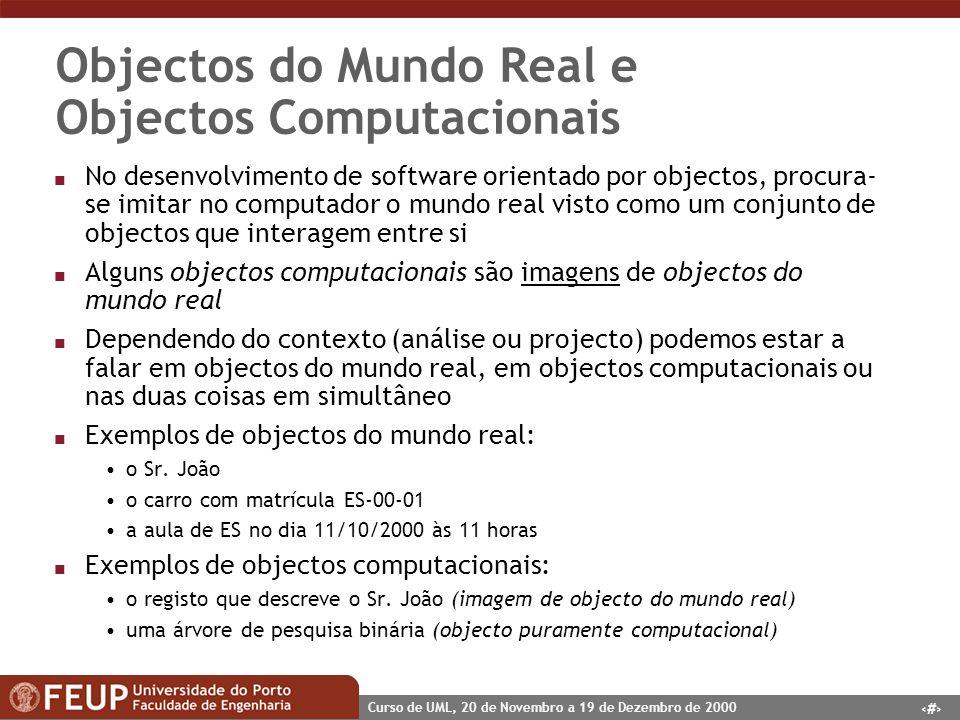 Objectos do Mundo Real e Objectos Computacionais