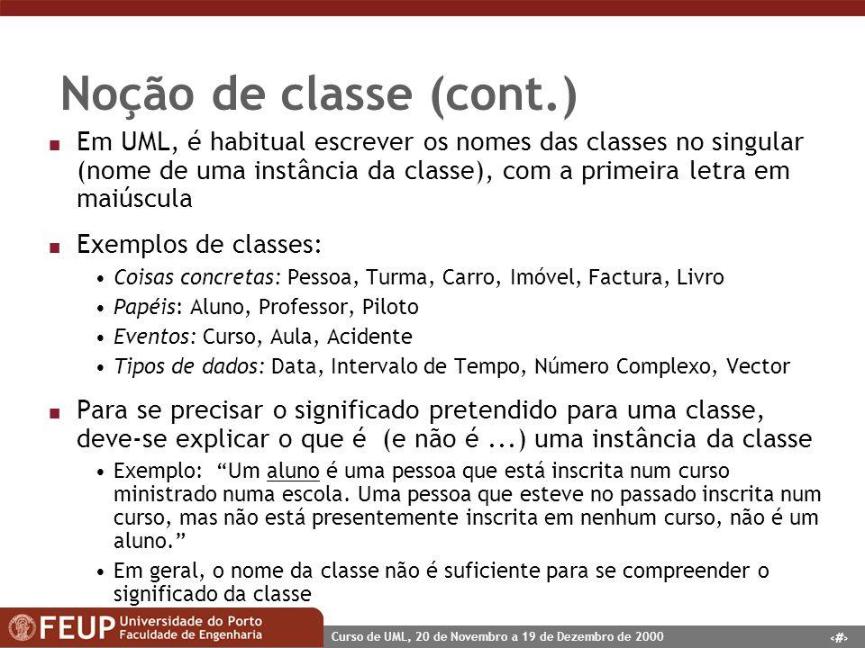Noção de classe (cont.)