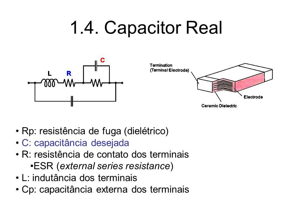 1.4. Capacitor Real Rp: resistência de fuga (dielétrico)