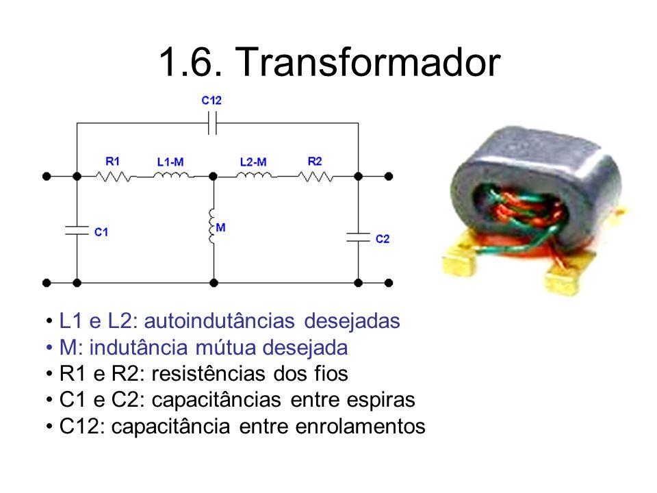1.6. Transformador L1 e L2: autoindutâncias desejadas