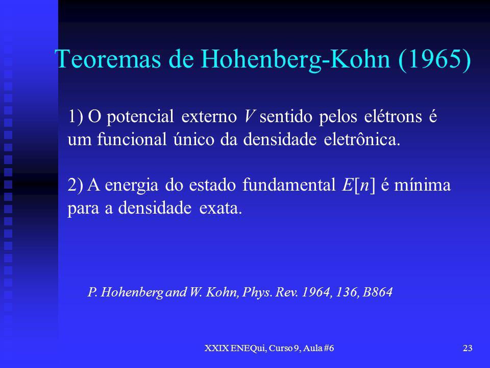 Teoremas de Hohenberg-Kohn (1965)