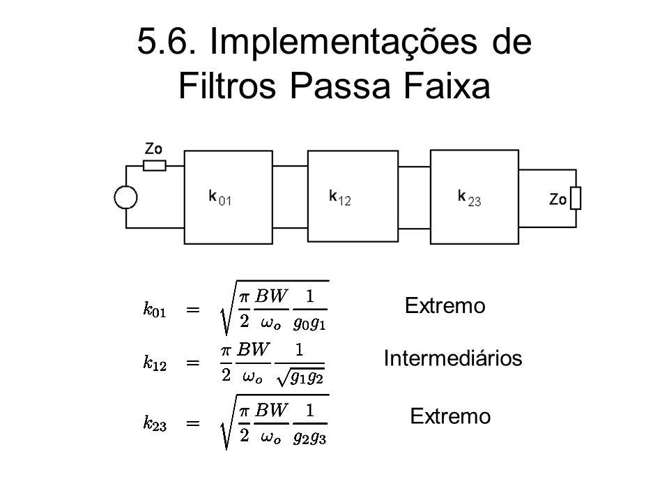 5.6. Implementações de Filtros Passa Faixa