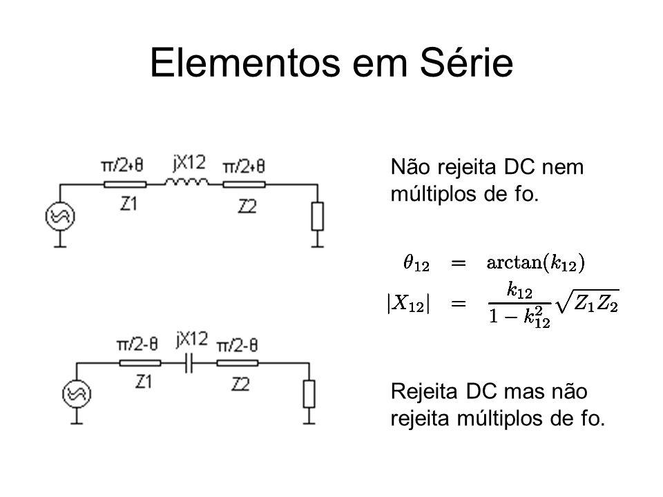 Elementos em Série Não rejeita DC nem múltiplos de fo.