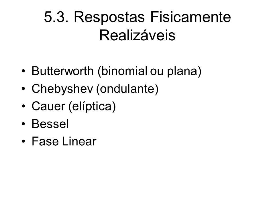 5.3. Respostas Fisicamente Realizáveis