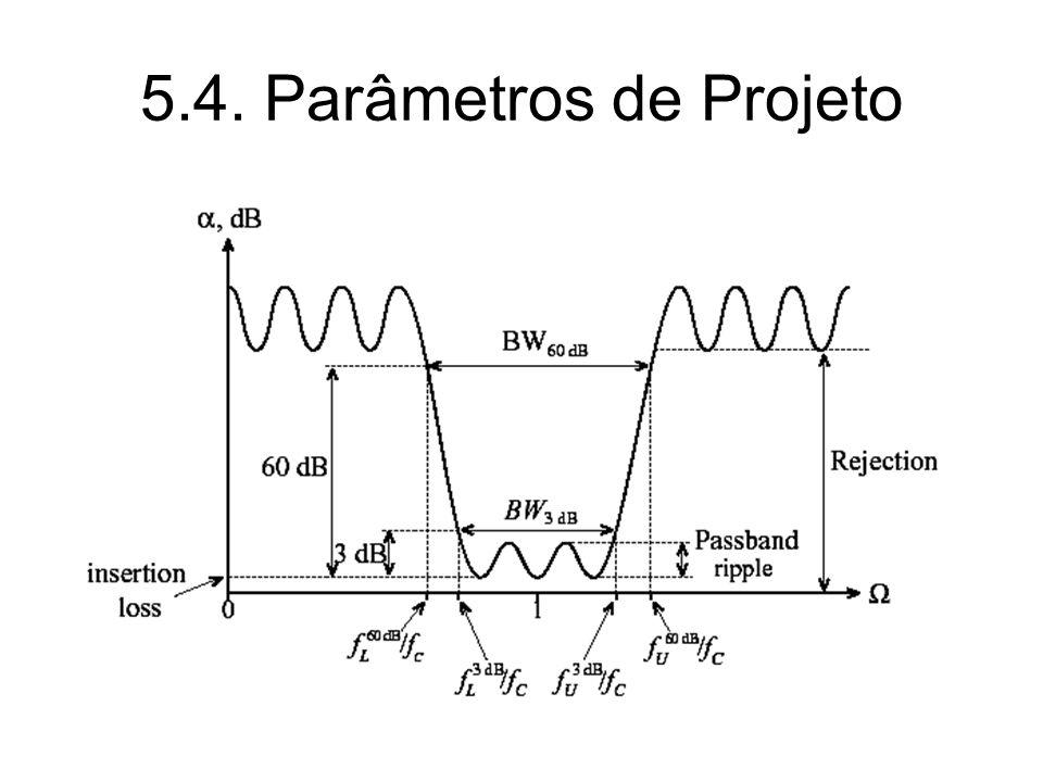 5.4. Parâmetros de Projeto