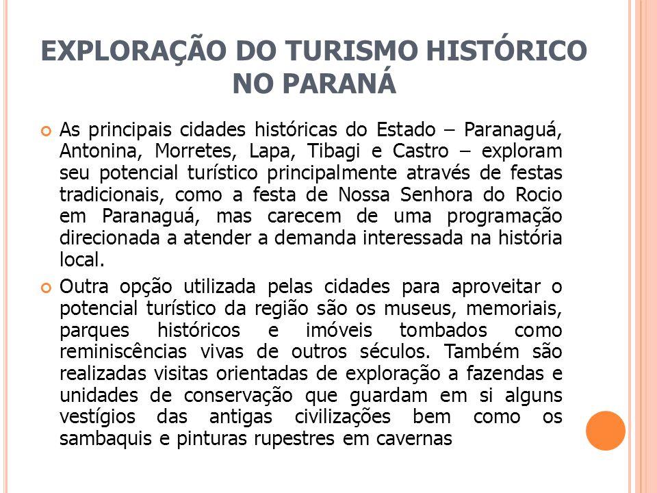 EXPLORAÇÃO DO TURISMO HISTÓRICO NO PARANÁ
